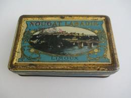 Boite Métallique/Confiserie/Nougat Labadie /Tourons/ Limoux/Vers 1930-1950   BFPP78 - Cajas