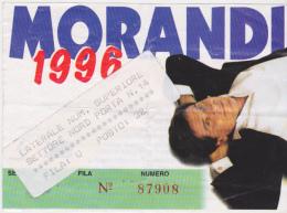 BIGLIETTO INGRESSO CONCERTO GIANNI MORANDI 1996 - Europe