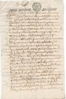 1644 - Document Manuscrit - Cachet Généralité D'Alençon - Taxe De 12 Deniers La Feuille - Vente De Terre - Seals Of Generality