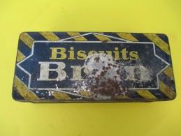 Boite Métallique/Confiserie/Biscuits BRUN/Boite Consignée/Vers 1920-1940   BFPP91 - Boxes