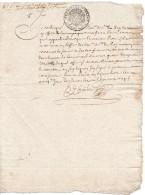 1705 - Acte Notarié Avec Cachet Généralité De Paris - Petit Papier Taxe 1 Sol Et 4 Deniers La Feuille - Seals Of Generality