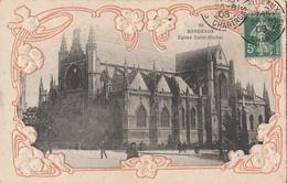 CPA Bordeaux Eglise Saint-Michel - Gaufrée - Bordeaux