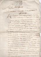 1701-Lettre Pour L'Intendant De La Généralité D'Alençon+2 Circulaire De Déclaration Du Roi (Louis XIV) Cachet Taxe 2 Sol - Seals Of Generality