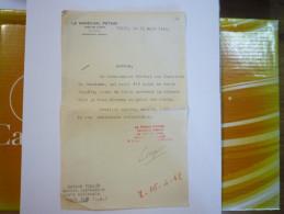 LETTRE Du CABINET Du Maréchal  PETAIN  31 Mars 1942  X - Documenti Storici