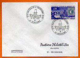 41 VENDOME  1870 BATAILLE      1970 Lettre Entière N° O 66 - Commemorative Postmarks