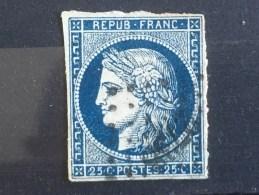 FRANCE  YT 4. Oblitération Petits Chiffres ROUEN.1850. Côte 60.00 € - 1849-1850 Ceres