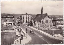Cp Photo 89- Sens- Avenue Lucien Cornet Et L'église St-maurice  (circulé En 1967) - Sens