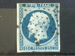 FRANCE  YT 10. Oblitération étoile .1852. Côte 40.00 € - 1852 Louis-Napoleon