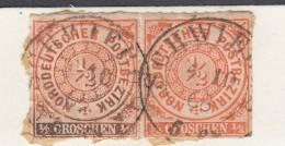 """NDP Norddeutscher Postbezirk Michel 3 (2) 1868 - Zentrisch """"Schwiebus"""" Gestempelt - Norddeutscher Postbezirk"""