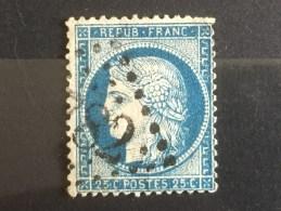 FRANCE  YT 60A. Oblitération Gros Chiffres .1871. Côte 2.00€ - 1871-1875 Ceres
