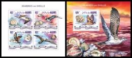 MALDIVES 2014 - Seabirds & Shells - YT 4541-4 + BF733; CV = 29 €
