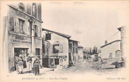 """¤¤  -  30    -  ESPALY   -  Une Rue  -  Epicier , Cararetier """" ABRIAL """"  -  Environs Du Puy   -   ¤¤ - France"""
