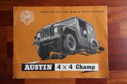 Dépliant Publicitaire AUSTIN 4 X4 CHAMP - Publicidad