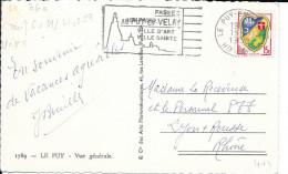 TIMBRE N° 1195 FRANCE - TARIF DU 6.01.59 AU 31.12.59  -  SEUL SUR CP5 -  1959 - Postal Rates