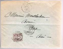 Switzerland, 1905, For Ain - 1882-1906 Coat Of Arms, Standing Helvetia & UPU