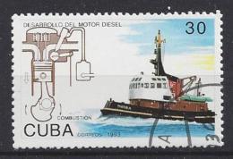 Cuba  1993  Development Of Diesel Engine (o) Tugboat - Gebruikt