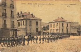 LE PUY DEFILE DI 86e AU RETOUR DE LA REVUE  L ENTREE DU QUARTIER ECRIS - Le Puy En Velay