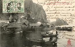 TONKIN HongayHabitations Lacustres Près Du Grand Rocher - Vietnam