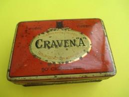 Boite Métallique/ 50 Cigarettes/ CRAVEN A/ Carreras Limited/couleur Orange/ Piccadilly/London/Vers 1950-1960   BFPP79 - Boîtes