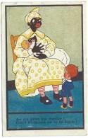 C'est-il Du Chocolat Que Tu Lui Donnes - Are You Giving Him Chocolate ? Nurse Nourrice Femme Noire Sein Tétée Humour - Illustrators & Photographers