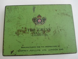 Boite Métallique/ 50 Cigarettes/ The Greys/Silk Cut/Godfrey Phillips Ltd/ London //Vers 1950-1960   BFPP77 - Scatole