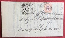GENOVA CHIAVARI  1897 - LUNGA LETTERA DEL NOTARO CESARE FERRETTI AL SINDACO COMUNE DI CHIAVARI  TASSATA 30 C. 3/5/97 - 1900-44 Victor Emmanuel III