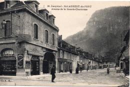 7534. CPA 38 SAINT-LAURENT-DU-PONT. AVENUE DE LA GRANDE CHARTREUSE. HOTEL DE LA GARE - Saint-Laurent-du-Pont