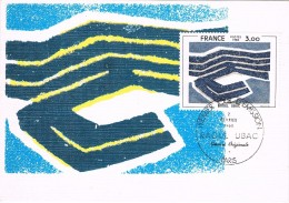 19271. Tarjeta Maxima PARIS (France) 1980.  RAOUL UBAC - Cartas Máxima
