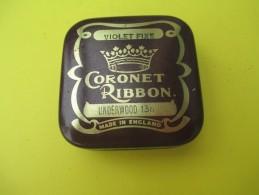 Boite Métallique/ Ruban De Machine à écrire/Underwood/Coronet Ribbon/Violet Fixe/England//Vers 1960-1970   BFPP87 - Cajas