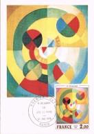 19272. Tarjeta Maxima PARIS (France) 1976.  Joie De Vivre De Delaunay - Cartas Máxima