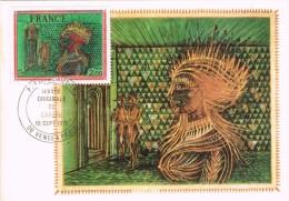 19273. Tarjeta Maxima VENCE  & PARIS (France) 1976.  La Favorite De CARZOU - Cartas Máxima