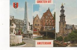 3068  Postal Holanda  Amsterdam  Vistas Varias - Amsterdam