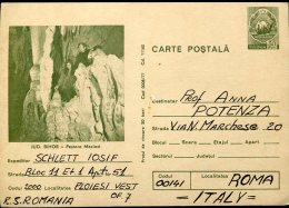 13106 Romania, Stationery Card  Circuled Registered  Grotte Cave Hohle - Geology