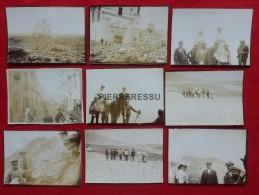 VESUVE ASCENSION VOLCAN GUIDES Verso Legende 8 MAI 1906 PHOTO 12 X 9 - Plaatsen