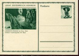 13111 Austria,  Stationery Card  1S. Showing  The Lurgrotte Peggau Steiermark ,  Grotte Cave Hohle - Geology