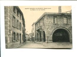 CP -  Saint Didier La Seauve(43) La Halle Et La Rue Centrale - France