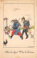 GUERRE 14 18  CARTE ANTI ALLEMANDE  KAISER GUILLAUME II  ILLUSTRATEUR BOUZIAT - Guerre 1914-18