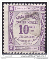 France 1908-25, Postage Due, 10c, Used - Postage Due