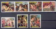 PARAGUAY MUSEO DEL PRADO SERIE MNH YVERT & TELLIER NRS. 1103-1109  VERONESE TIZIANO TINTORETTO RUBENS VAN DYCK VELAZQUEZ - Desnudos