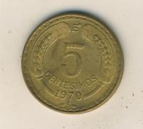Chile V. 1970   5 Centesimos  (48010) - Chile