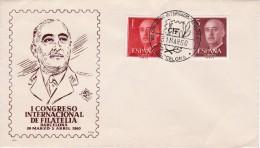 BARCELONA SOBRE DEL PRIMER DÍA CIF - GENERAL FRANCO - PIE DE IMPRENTA FNMT- B, 1960 - FDC