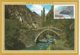ANDORRA . Pont Roman De Saint Antoine à La Massana. Carte-maximum - Ponti