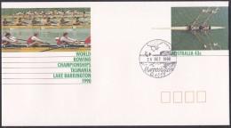 Australia Prestamped Envelope, Rowing Championships 1990 (ft104)