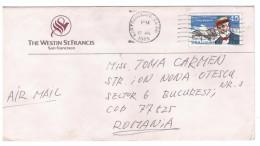 STORIA POSTALE - USA - ANNO 1989 - AIR MAIL - WESTIN ST. FRANCIS - SAN FRANCISCO - PER TOMA CARMEN - BUCAREST - ROMANIA - America Centrale