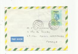 BRESIL  : Timbre Sans Valeur Indiquée Pour Tarif Internationale Sur Lettre Pour La France De1999 - Brazilië