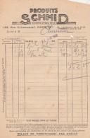 Facture 22/6/1939 Produits SCHMID Rue Championnet PARIS - France