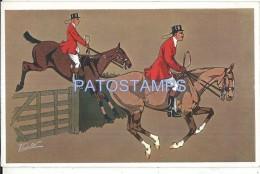 57408 ART ARTE SIGNED VEDETTE MAN IN HORSE RIDING POSTAL POSTCARD - Künstlerkarten