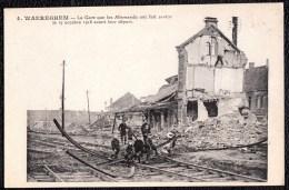 WAREGEM - *** Waereghem La Gare Que  Allemands Ont Fait Sauter 19 Octobre 1918 Phototypie Desaix Waregem Station  ***  ! - Waregem