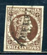 RARE United States Of Colombia, 1870 10 DIEZ Centavos  USED STAMP TIMBRE - Colombia