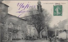 CPA D153 MOLLEGES Place De L'église -belle Animation - France